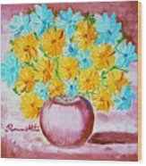 A Whole Bunch Of Daisies Wood Print by Ramona Matei