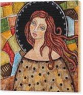 Abigail Wood Print by Rain Ririn