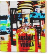 Absolut Gasoline Refills For Bali Bikes Wood Print by Funkpix Photo Hunter