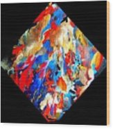 Abstract - Evolution Series 1001 Wood Print by Dina Sierra