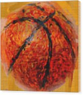 Abstract Basketball Wood Print by David G Paul