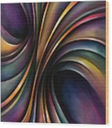 Abstract Design 55 Wood Print by Michael Lang