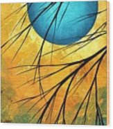 Abstract Landscape Art Passing Beauty 1 Of 5 Wood Print by Megan Duncanson