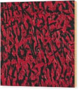 Abuse Wood Print by Roseanne Jones