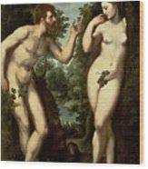 Adam And Eve Wood Print by Peter Paul Rubens