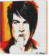 Adam Lambert Wood Print by Lin Petershagen