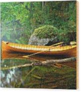 Adirondack Guideboat Wood Print by Frank Houck