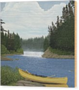 After The Rapids Wood Print by Kenneth M  Kirsch