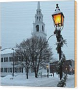 After The Snowfall Wood Print by Suzanne DeGeorge