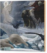 Ahasuerus At The End Of The World Wood Print by Adolph Hiremy Hirschl