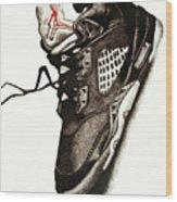 Air Jordan Wood Print by Robert Morin