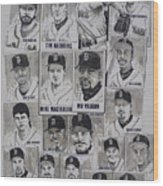 Al East Champions Red Sox Newspaper Poster Wood Print by Dave Olsen