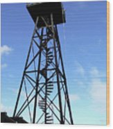 Alcatraz Guard Tower - San Francisco Wood Print by Daniel Hagerman