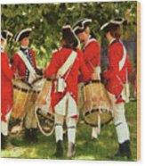 Americana - People - Preparing For Battle Wood Print by Mike Savad