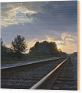 Amtrak Railroad System Wood Print by Carolyn Marshall