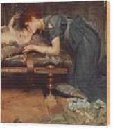 An Earthly Paradise Wood Print by Sir Lawrence Alma-Tadema