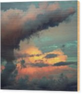 And The Thunder Rolls Wood Print by Karen Wiles