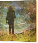 And Then He Turned Her World Upside Down Wood Print by Tara Turner