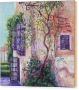 Andalucian Garden Wood Print by Candy Mayer