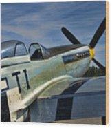 Angels Playmate P-51 Wood Print by Steven Richardson