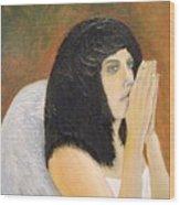 Annolita Praying Wood Print by J Bauer