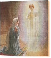 Annunciation Wood Print by William Brassey Hole
