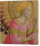 Annunciatory Angel Wood Print by Fra Angelico