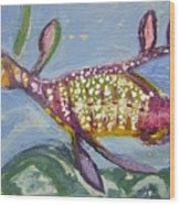 Anthropomorphic Sea Dragon 2 Wood Print by Michelley QueenofQueens
