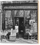 Antique Shop Paris France Wood Print by Gerry Walden