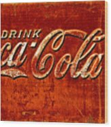 Antique Soda Cooler 3 Wood Print by Stephen Anderson