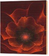 Apo Oriental Poppy Wood Print by Peggi Wolfe