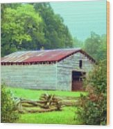 Appalachian Livestock Barn Wood Print by Desiree Paquette