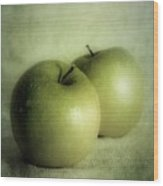 Apple Painting Wood Print by Priska Wettstein