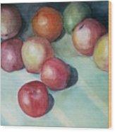 Apples And Orange Wood Print by Jun Jamosmos
