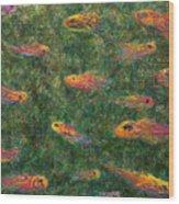 Aquarium Wood Print by James W Johnson