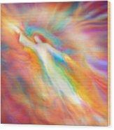Archangel Jophiel Illuminating The Ethers Wood Print by Glenyss Bourne