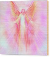 Archangel Metatron Reaching Out In Compassion Wood Print by Glenyss Bourne