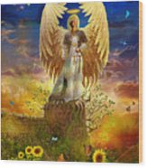 Archangel Uriel Wood Print by Steve Roberts