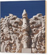 Architecture At The Lensic Theater In Santa Fe Wood Print by Susanne Van Hulst