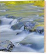 Argen River Wood Print by Silke Magino
