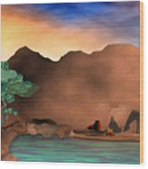 Arizona Sky Wood Print by Arline Wagner