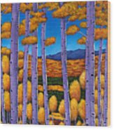Aspen Country II Wood Print by Johnathan Harris