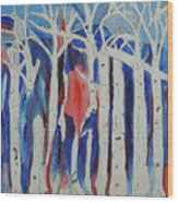 Aspen Roots Wood Print by Christy Woodland