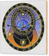 Astronomical Clock Wood Print by Michal Boubin