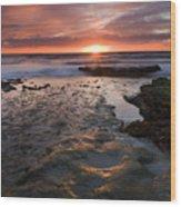 At The Horizon Wood Print by Mike  Dawson