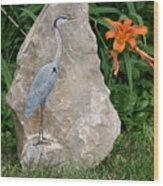 At Waters Edge Wood Print by Ken Hall
