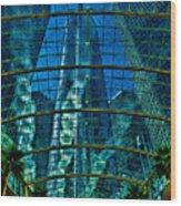 Atrium Gm Building Detroit Wood Print by Chris Lord
