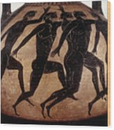 Attic Black-figured Vase Wood Print by Granger