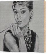Audrey Hepburn Wood Print by Ylli Haruni