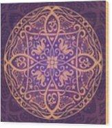 Aum Awakening Mandala Wood Print by Cristina McAllister